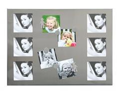 Deknudt Frames S67EC3 Cadre Panneau avec 6 Aimants pour 6 Photos Argenté 37 x 50 cm