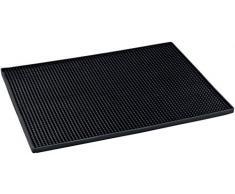 WENKO Tapis égouttoir Maxi - Tapis sec pour vaisselle, 40 x 1 x 30 cm, Noir