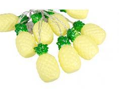 Out of the blue 260047 guirlande lumineuse ananas, Plastique, Jaune, 17 x 6.5 x 18 cm