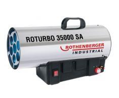 Rothenberger 1500000364 ROTURBO 35000 SA Appareil de chauffage à gaz avec châssis en acier inoxydable