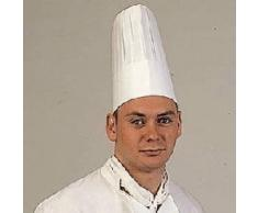 Garcia de Pou 10Unit Classique Toque de Chef en boîte, 23cm, Airlaid, Blanc, 23x 30x 30cm