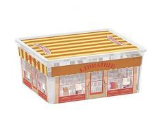Kis 8409000 1842 01 C Box Style Boutiques Boîte de Rangement Plastique Multicolore 18 L
