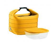 Guzzini, Petit Sac Isotherme A/Compartiment Fraicheur Handy, (Bag) 22 x 18 x h22 cm; (Container) 19,6 x 19,6 x h7 cm - 1400cc