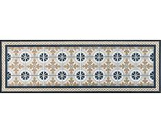 Wash+Dry Kitchen Tiles Tapis, Surface en Polyamide, Beige, 80 x 150 cm