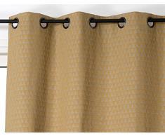 Linder Rideau Tendance, Coton, Jaune Moutarde, 140x260 cm