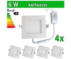 4 x LEDVero ULTRASLIM Panneau LED SMD 2835 6 W carré blanc froid Lampe Plafonnier encastrable Spot Lumière sp147