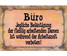Schatzmix Bureau Plaque en métal avec Inscription en Allemand « Jewel der WOM.» - 20 x 30 cm - Multicolore