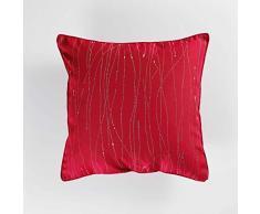 Douceur dIntérieur FILIANE Coussin Passepoil, Rouge, 40 x 40 CM
