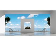 Papier Peint poster panoramique RESIDENCE SECONDAIRE 4 x 2,70 m | Déco et photo murale XXL Qualité HD Scenolia