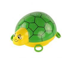 ANSMANN Projecteur de lumière à LED tortue / lampe de décoration pour chambre de bébé qui laide au sommeil grâce à sa musique et jeu de couleurs / Veilleuse avec capteur tactile pour une mise en marche et arrêt intuitifs