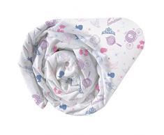 CTI Drap Housse Imprimé Univers Princesses Dream Big Enfant Coton, Rose, 190x90 cm