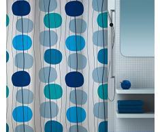 Spirella 10.16731 Rideau de Douche Textile Bleu 180 x 200Â cm