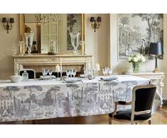 Garnier-Thiebaut PALAZZINA Nappe Antitache, Coton, Fusain, 174 x 254 cm