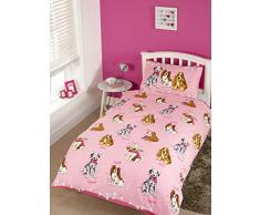 Doggies Chien Puppy Lit Simple Housse de Couette et taie doreiller Parure de lit pour Enfant Fantaisie Animaux New