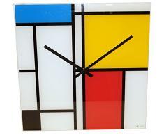 NeXtime 8156 Time Lines Horloge Verre Multicolore 43,0 x 43,2 x 3,2 cm