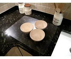 Hometex Biosafe Tapis Contour WC rectangulaire 91 x 51 cm, Anti-microbien de Table Transparent