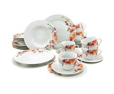 Creatable, 20483, série FLOWER DREAMS, set vaisselle, service combiné 30 pièces