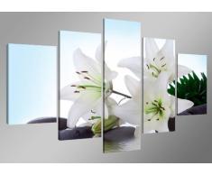 Visario 5504 Tableau sur Toile Motif Fleurs, 5 pièces 160cm