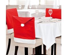 eBuyGB Lot de 6 Housses de Chaise de Salle à Manger Rouge