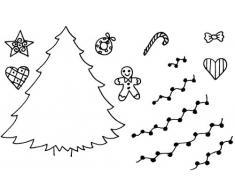 Art Stamps A6 Jill Taylor décorer un sapin de Noël -