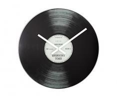 NeXtime B2500001 Spinning Time Horloge Verre Noir