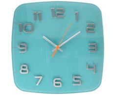 NeXtime 8816tq Classy Square Horloge Plastic Vert 30,5 x 30,5 x 3,0 cm