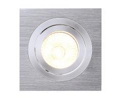 spot encastré - carré - gu10-50 w - slv new tria 1 - aluminium brossé - cr