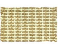 Jute Co Paillasson en Corde et de Noix de Coco Blanchi, Couleur Naturelle/45Â cm x 75Â cm, Beige