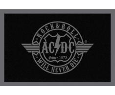 Empire Merchandising 623911 Paillasson en polypropylène Motif AC/DC Rock & Roll Will Never Die 60 x 40 cm