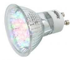 Xanlite ALG21RVB Ampoule 21 LEDs Change RVB 1,4 W GU10 Transparent