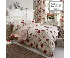 Catherine Lansfield Parure de lit Simple Motif Coquelicots Sauvages Facile dentretien Multicolore, Multicolore, Double