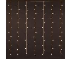 Rideau 3,6 x 1,2 m, 216 LED blanc chaud, câble blanc, avec contrôleur à mémoire, lumières de Noël, rideaux lumineux