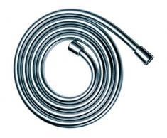 Keuco 54995011200 Tuyau de douche en métal flexible et protection antitorsion Chrome 1250 mm