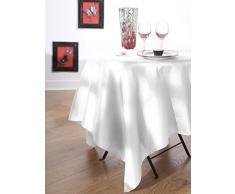 Calitex SXN8804661A Effet Soie Nappe Polyester Blanc 180 x 180 cm