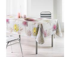 LHarmonie du décor Romantic Flower Nappe Imprimé Polyester 150 x 240 x 240 cm