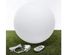 V-TAC Lampe LED de Sol Boule Light Ø 40 cm Multicolore RGB Batterie Rechargeable et télécommande Ip65