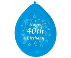 amscan 22,8 cm 40 Ans Lot de 10 Ballons de baudruche