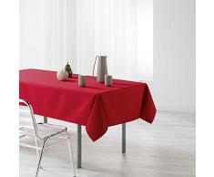 Douceur dIntérieur Nappe Rectangle, Polyester, Rouge, 250x140 cm