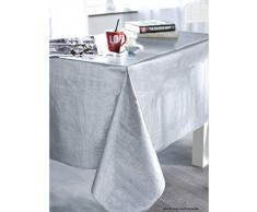 Calitex S7U78HX261A Effet Tissage Nappe PVC Argent 250 x 140 cm