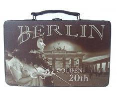Kleiber Coffret de Rangement 91986 Berlin Golden Coffret de Rangement 20 Petit, boîte, Bois, Marron, 30 x 11, 5 x 18 cm