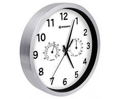 Bresser MyTime Thermo/Hygro Horloge murale en Métal, blanc