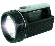 Projecteur portatif ANSMANN HyCell HS9 LED / à piles avec 9 LEDs et une durée déclairage de 150h / Lampe avec réflecteur - idéale pour le camping, le travail, latelier, le jardin, le garage, etc.