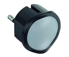 Legrand 448050677 veilleuse crépusculaire à LED, fiche 2 pôles-10 ampères, Plastique, 0.06 W, Noir