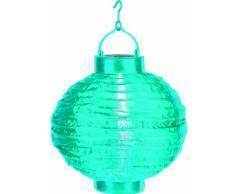 Best Season 477-17 Lampion solaire LED Lumière blanche froide Bleu Env. 20 cm