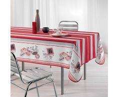 Couleur Montagne Toucher Soft Bistrot Chic Nappe en Polyester 150 x 240 cm
