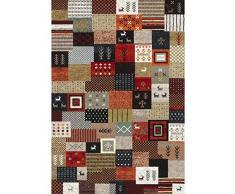 NAZAR 816110 Ethno 816 Tapis Ethnique à motif Matériel Synthétique Multicolore 150 x 80 cm