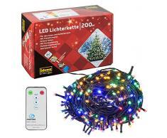 Idena Guirlande lumineuse LED avec minuterie, plastique, vert, 2500 x 2 x 2 cm