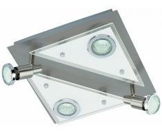 Briloner Leuchten 3529-042 Plafonnier LED en nickel mat, 4 ampoules GU10
