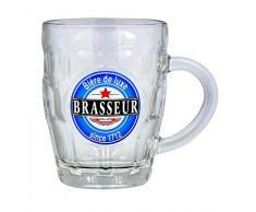 Reception 1605383 Lot de 2 Bocks à bière Verre Transparent 26 x 10 x 12,5 cm