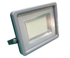 V-TAC Projecteur à LED 20W SMD–Lumière chaude–IP65–remplace lhalogène–Boîtier en aluminium moulé sous pression gris, Weißlicht